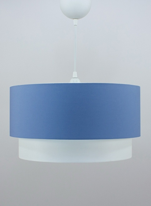 Crea Lighting Doubleshade Large Sarkıt 40cm-3 Ampul Mavi